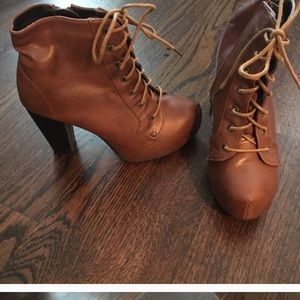 Shoes - Tan color booties. Size 6.